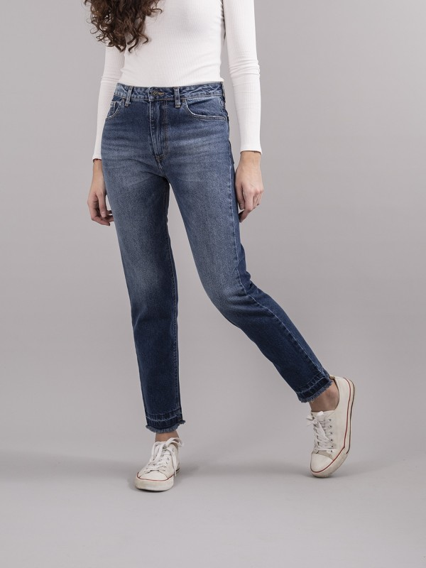 Petty Vintage Cropped Mid Blue