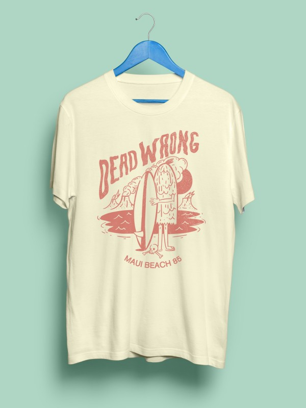 Camiseta Capitán DEAD WRONG CREAM Organic Cotton
