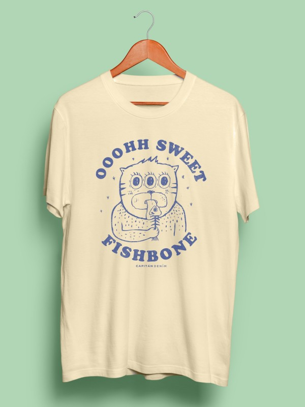 Camiseta Capitán Fishbone Cream