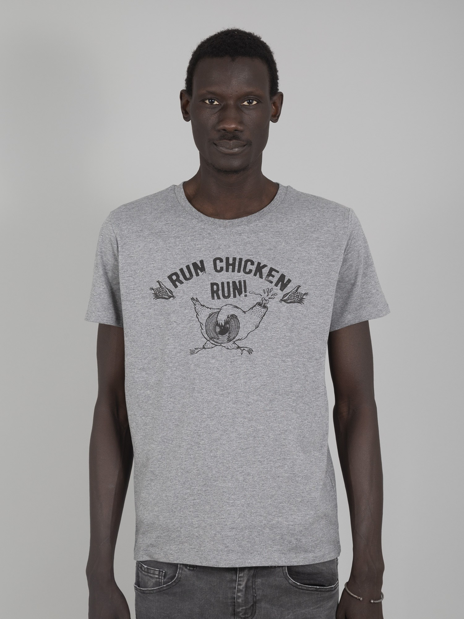 Camiseta Capitán Run Chicken Grey