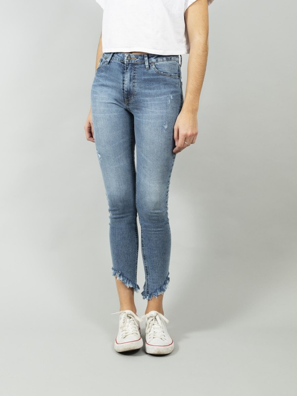 DENVER RETRO LIGHT CROPPED BLUE ECO RECYCLED COTTON Skinny Denim