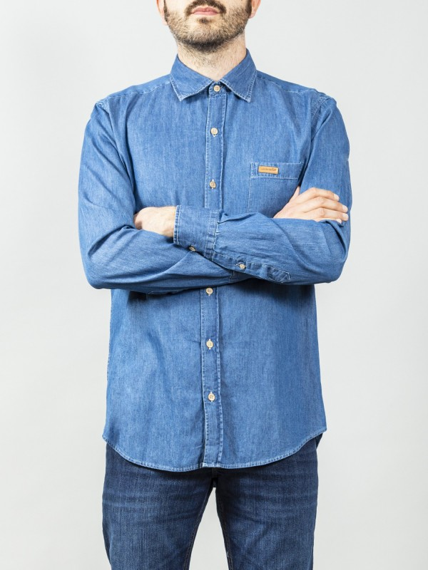 Camisa Buffalo Light Blue Denim
