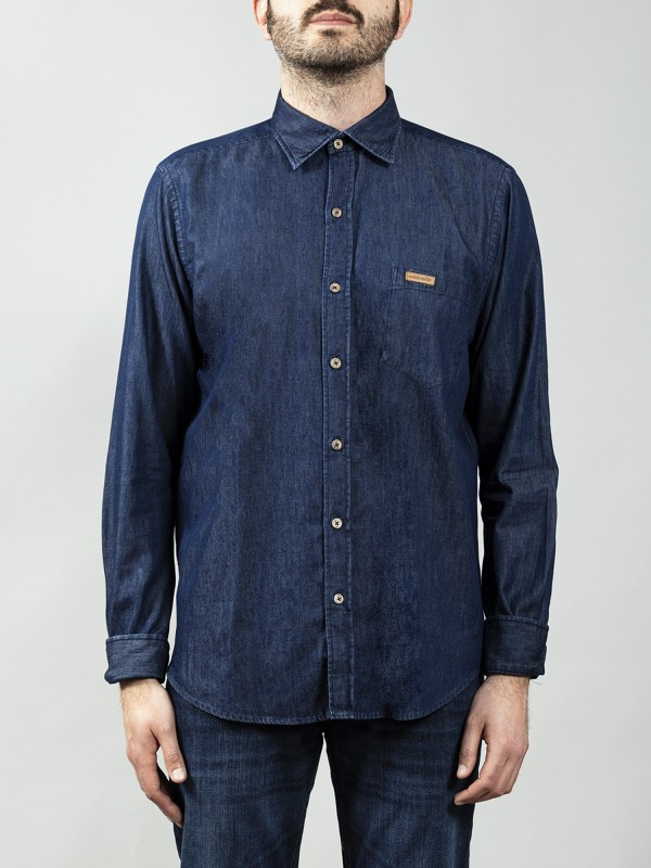 Camisa Buffalo Dark Blue Denim