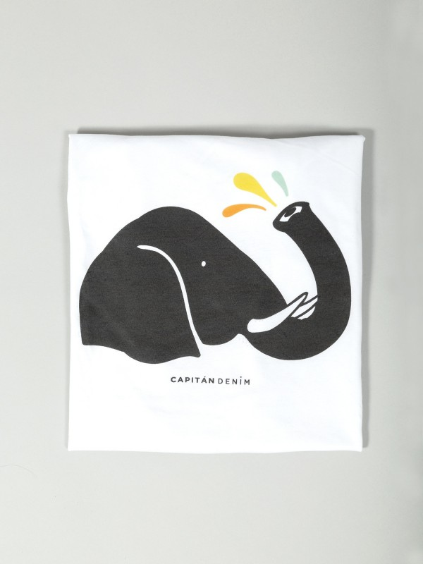Big Elephant White Organic Cotton