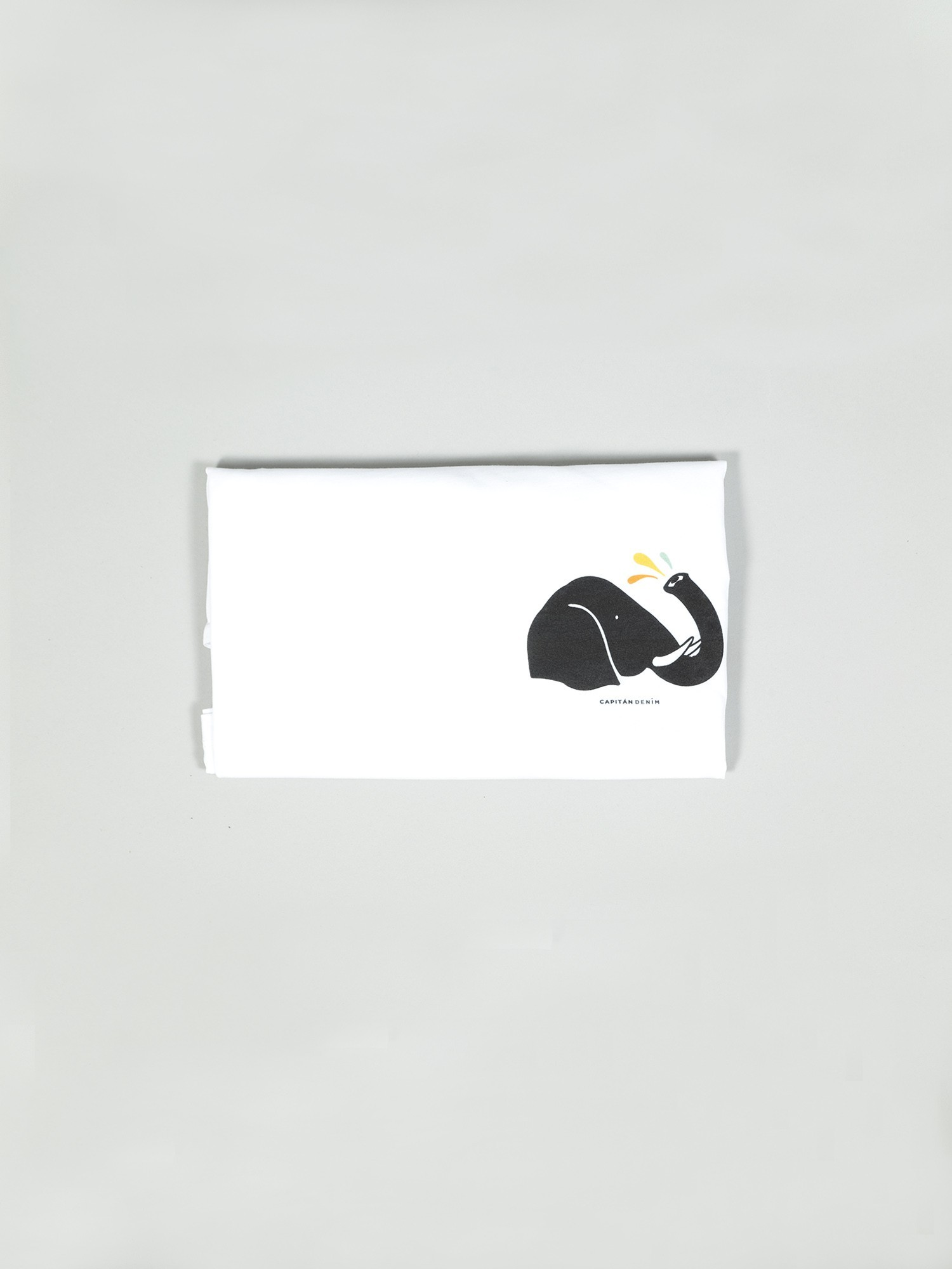 Small Elephant White Organic Cotton