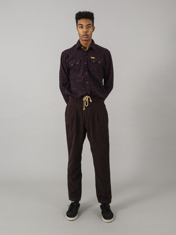 Terauchi Dark Brown Regular Corduroy