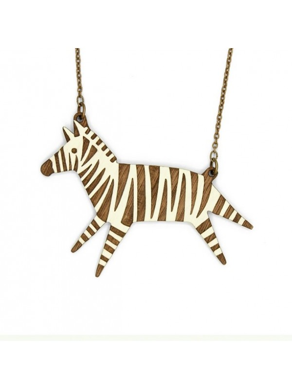 Collar Wood Hood Zebra