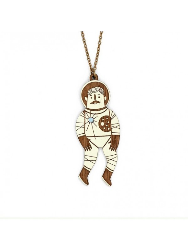 Collar Wood Hood Astronaut