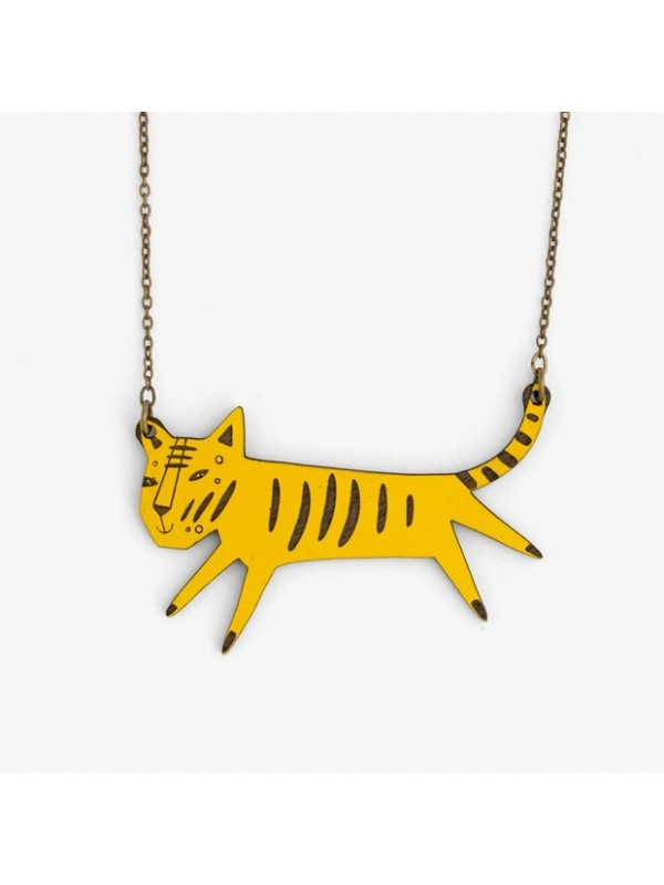 Collar Wood Hood Tiger