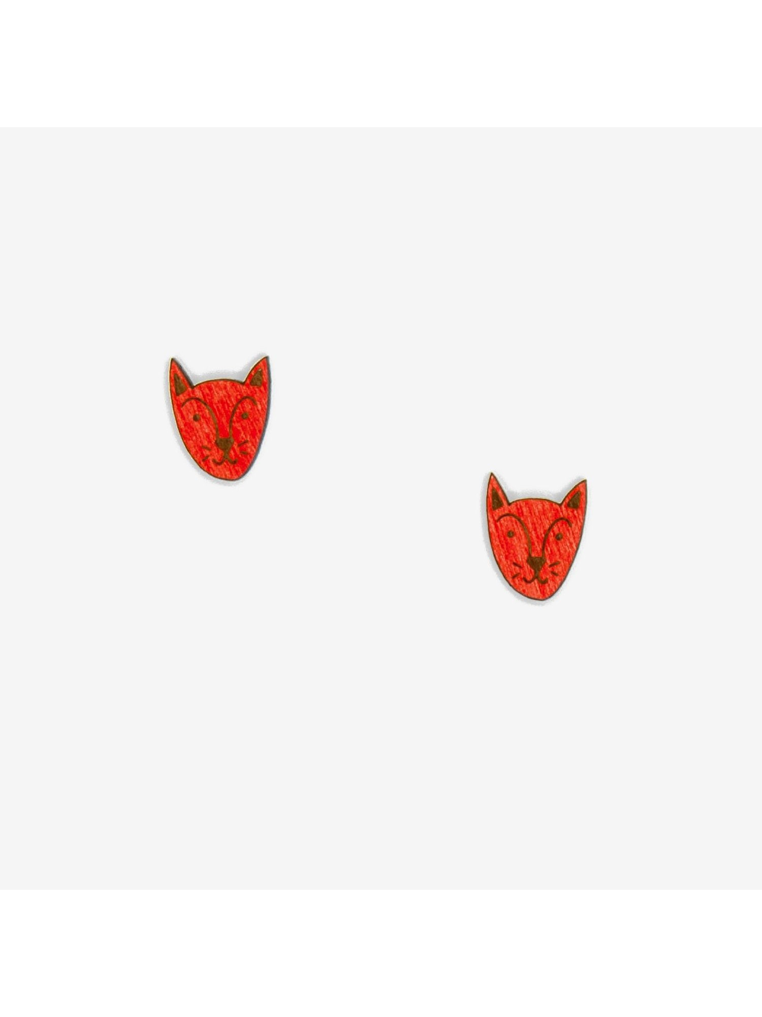Pendientes Forest Fox Face