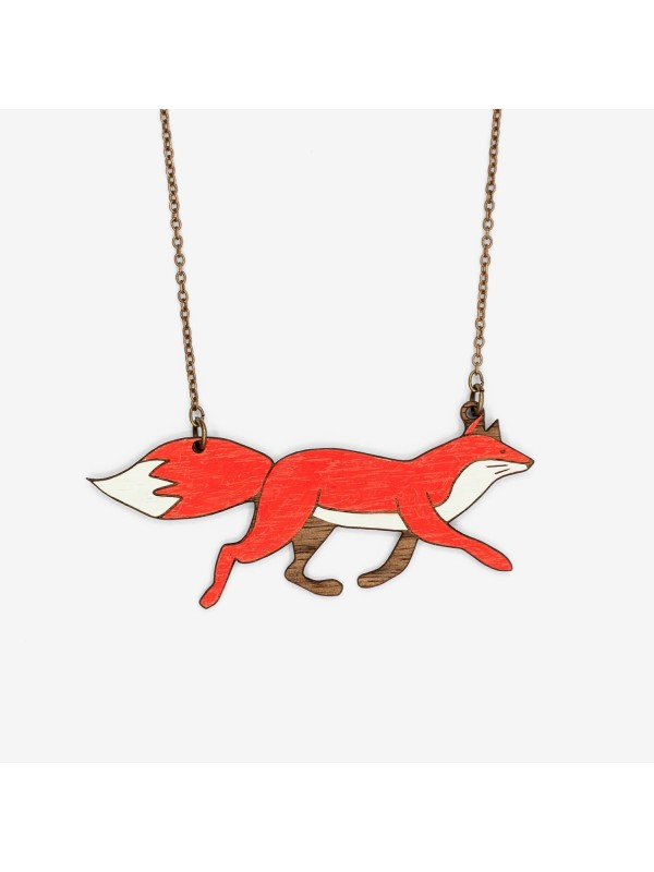 Collar Forest Running Fox