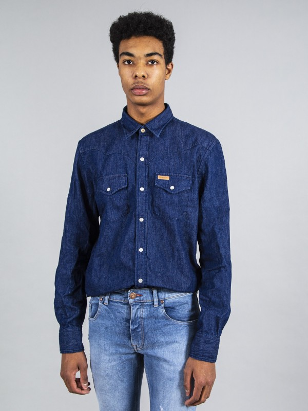Camisa CROSBY Dark Denim Organic Cotton