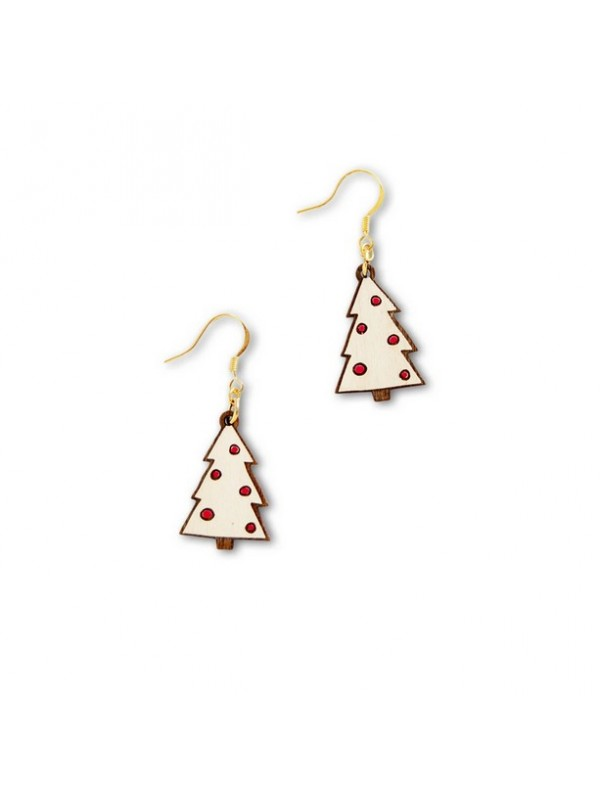 Pendientes Winter Frost White Tree