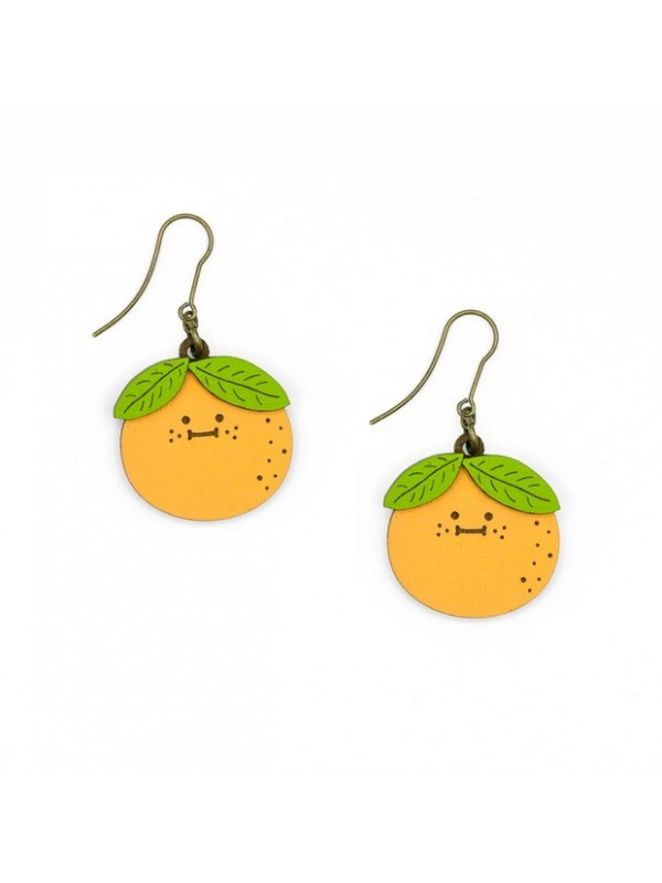Mrs Orange Earrings Hook/ Pendientes Gancho