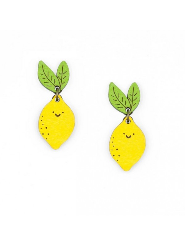 Pendientes pin Mrs Lemon Earrings Stud
