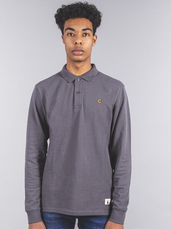 Polo Long GREY Organic Cotton