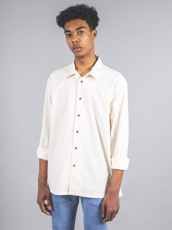 Camisa Barretto Raw CottonB/W