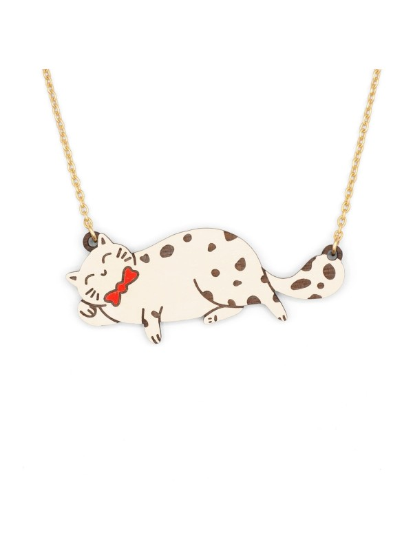 Collar Cat With a Bow Tie Necklace