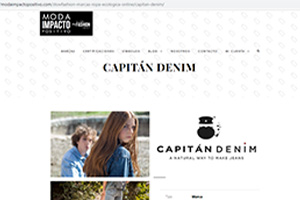 Capitán Denim en el directorio de moda sostenible de Slow Fashion Next