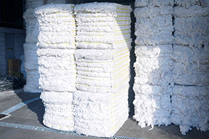 What is the production process of recycled cotton?